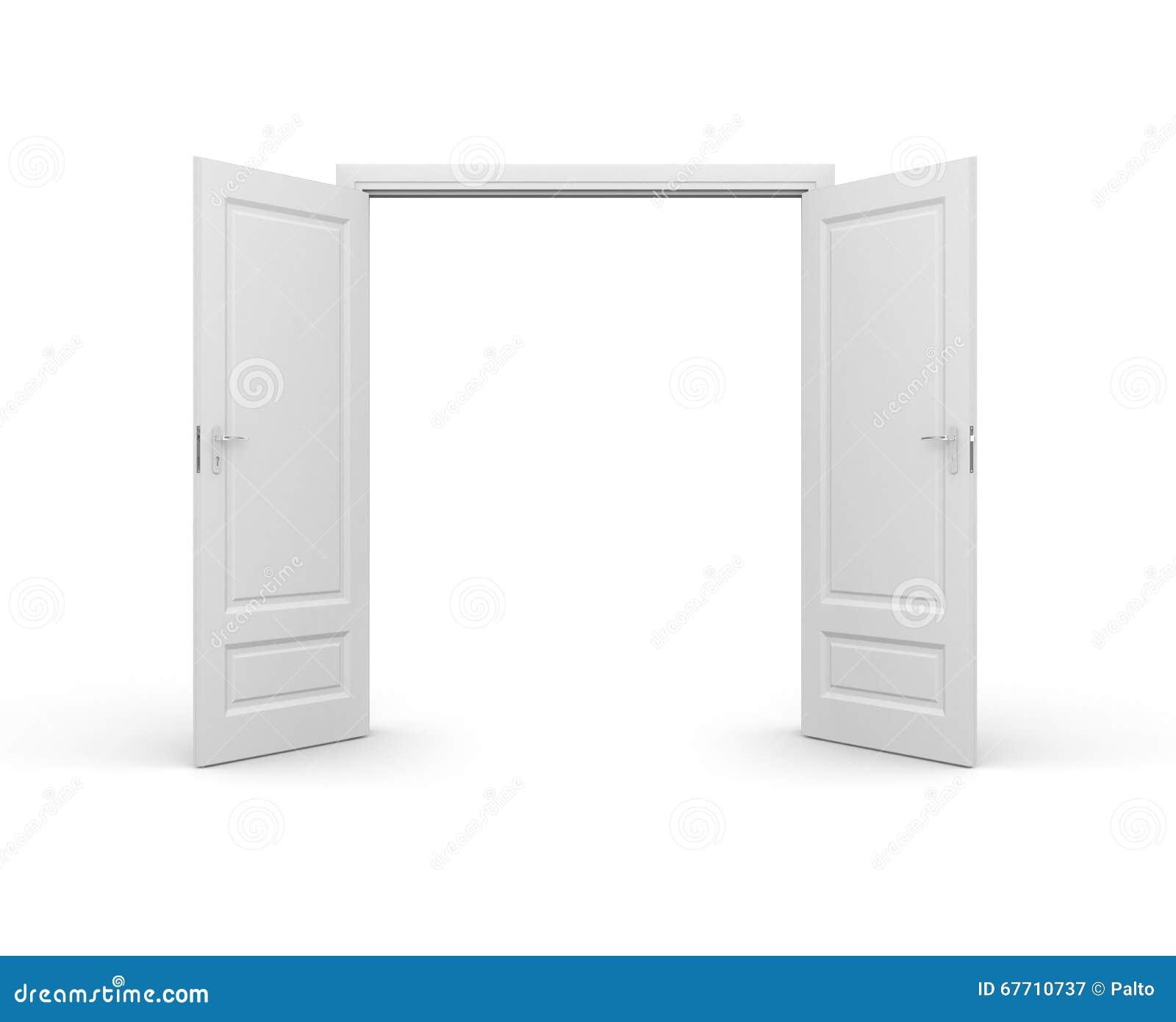 Geöffnete tür  Geöffnete Tür Stock Abbildung - Bild: 67710737