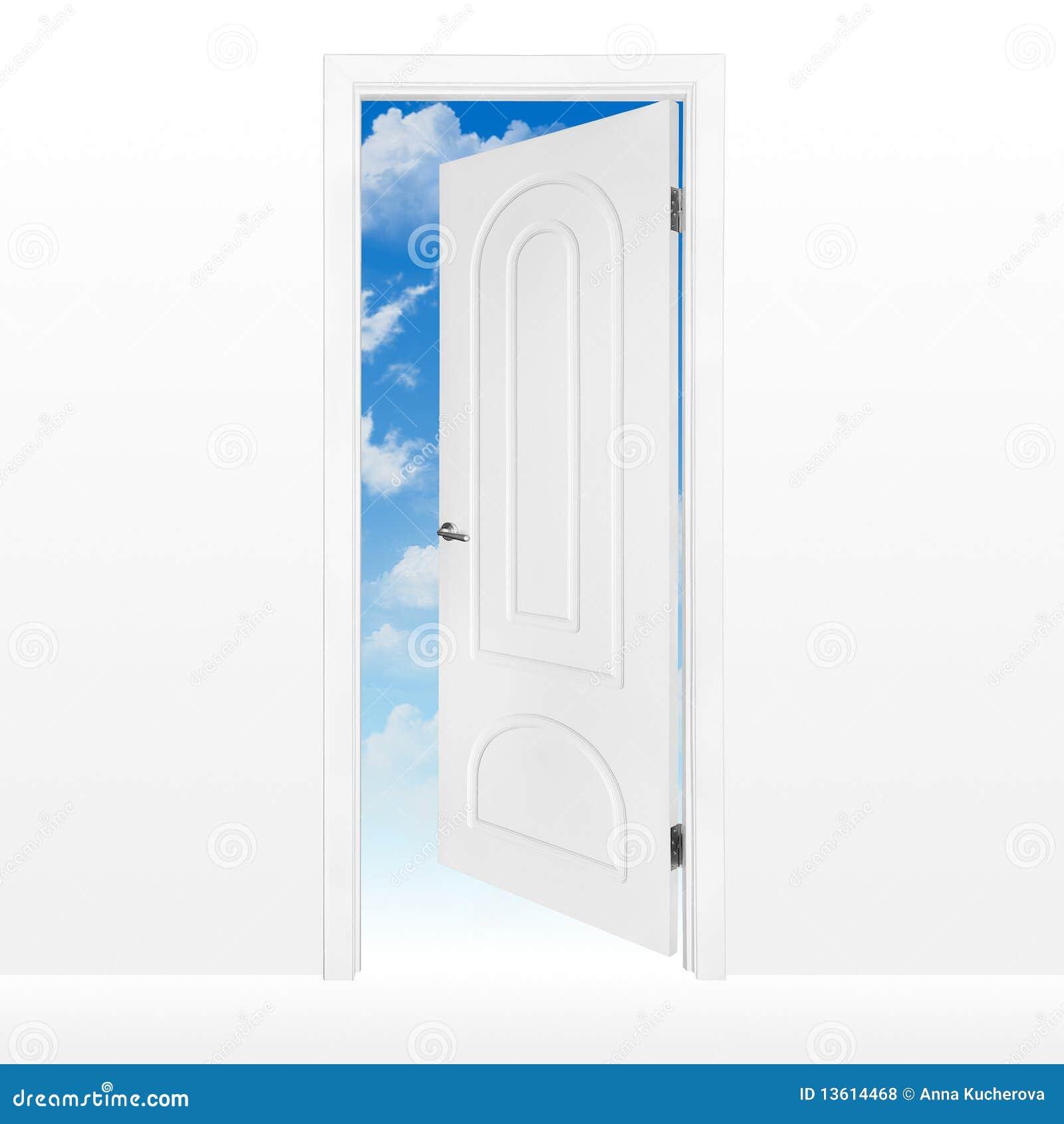 Geöffnete tür  Geöffnete Tür Zum Blauen Himmel Lizenzfreie Stockfotos - Bild ...