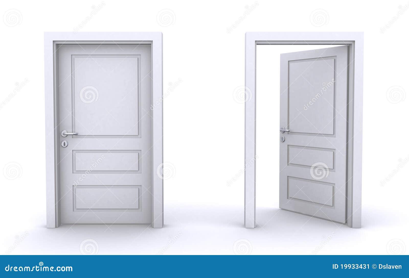 Geschlossene tür  Geöffnete Und Geschlossene Türen Stockbild - Bild: 19933431