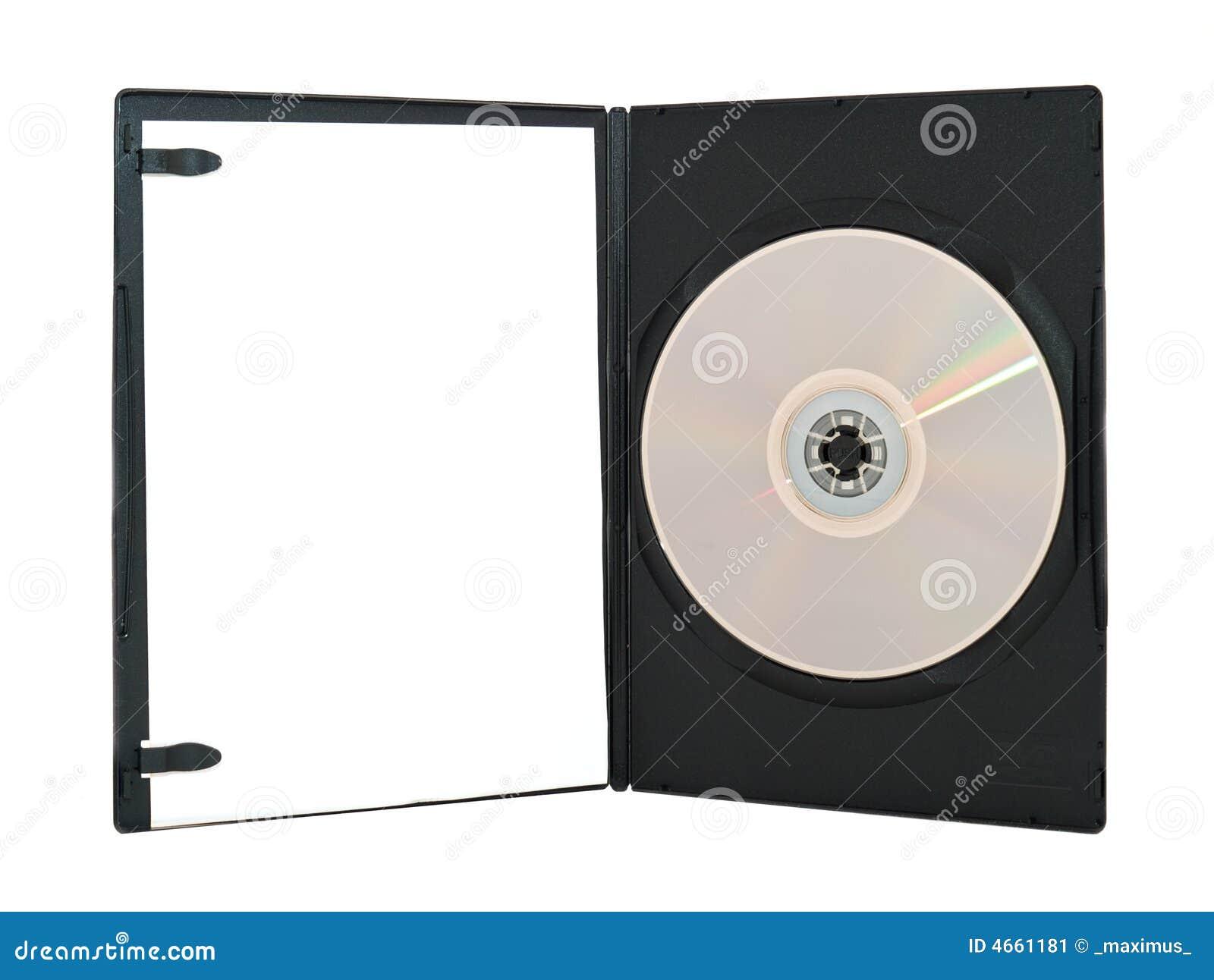 Geöffneter Dvd Kasten Stockbild Bild Von Platte Bedeckung