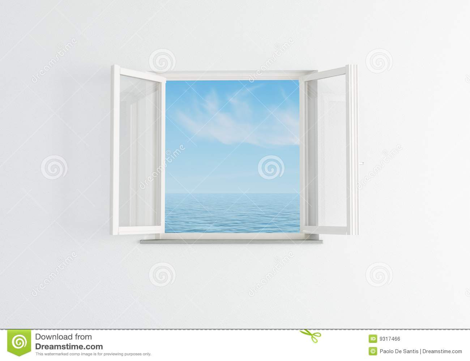 ge ffnetes fenster des wei lizenzfreies stockbild bild 9317466. Black Bedroom Furniture Sets. Home Design Ideas
