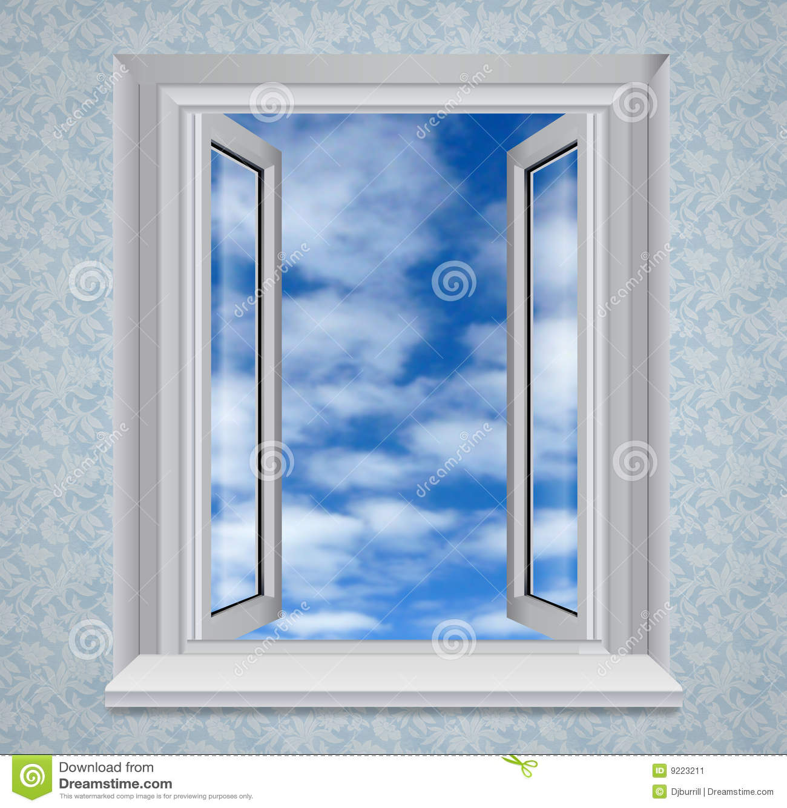 Offenes fenster himmel  Geöffnetes Fenster Zum Blauen Himmel Stockbild - Bild: 9223211