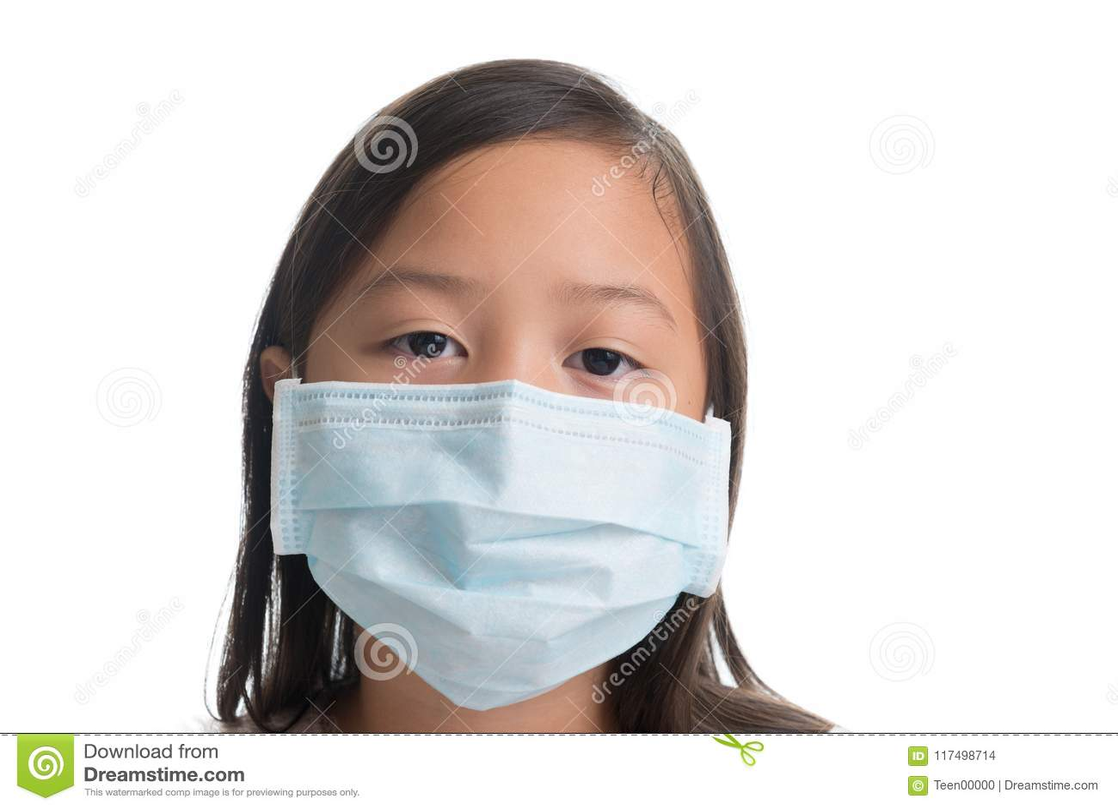 masque de protection enfant virus