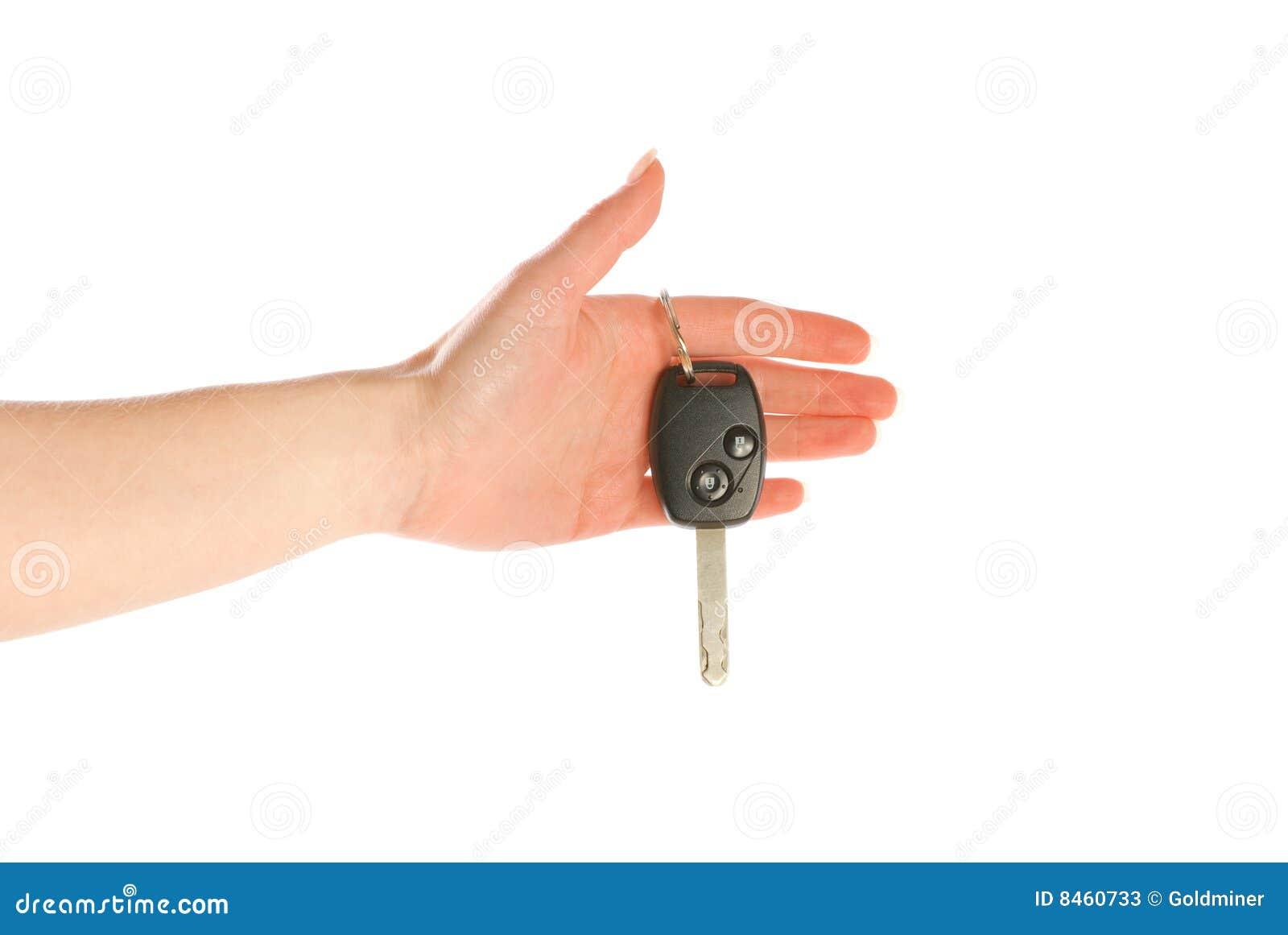Ge hand isolerad key white