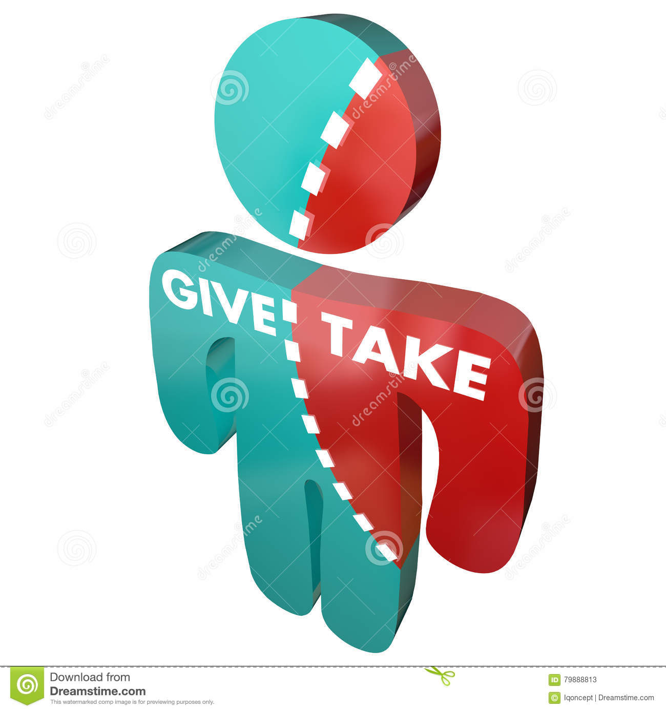 Ge och ta Person Share Sharing Giving