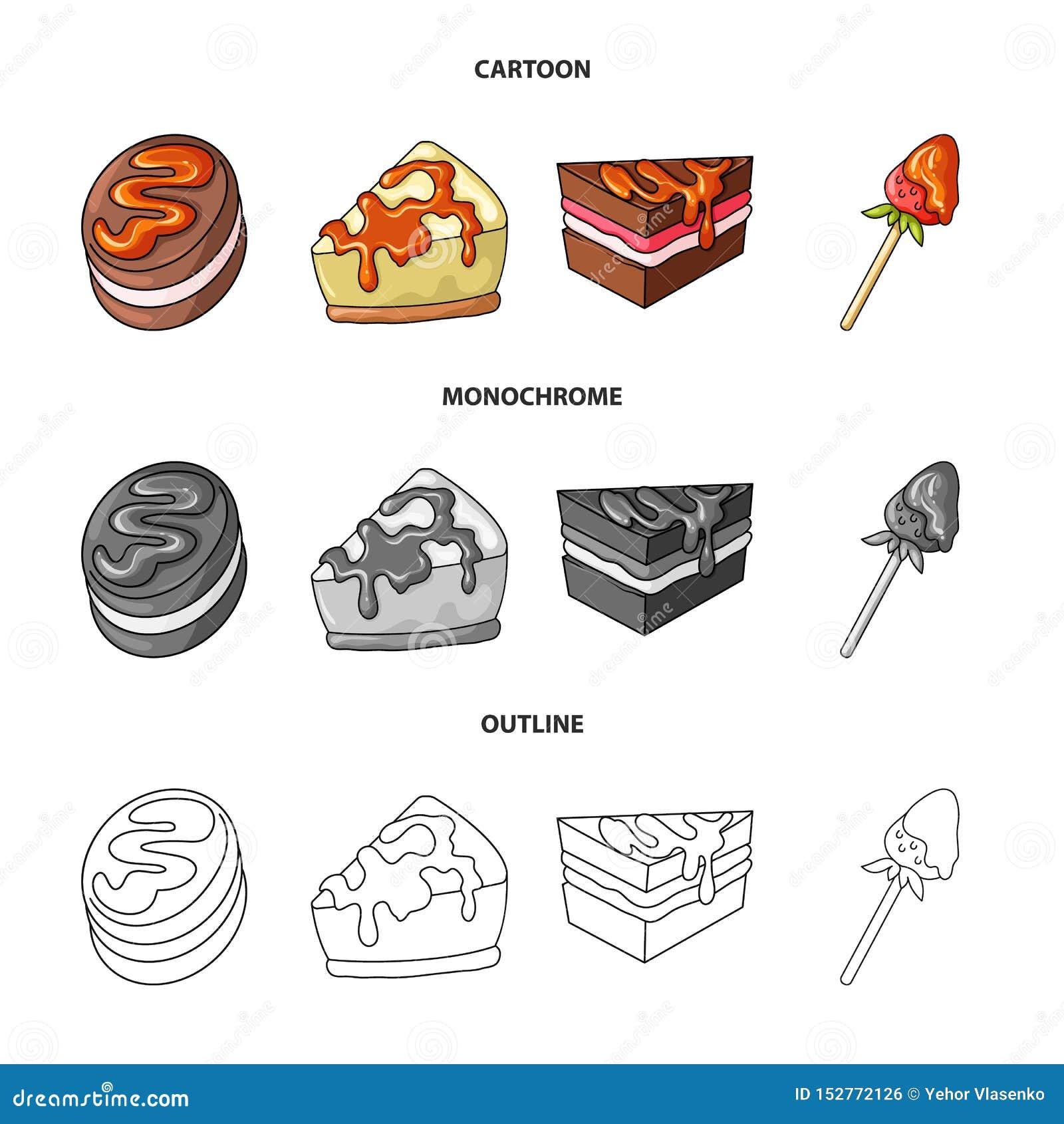 Ge?soleerd voorwerp van banketbakkerij en culinair teken Inzameling van banketbakkerij en product vectorpictogram voor voorraad
