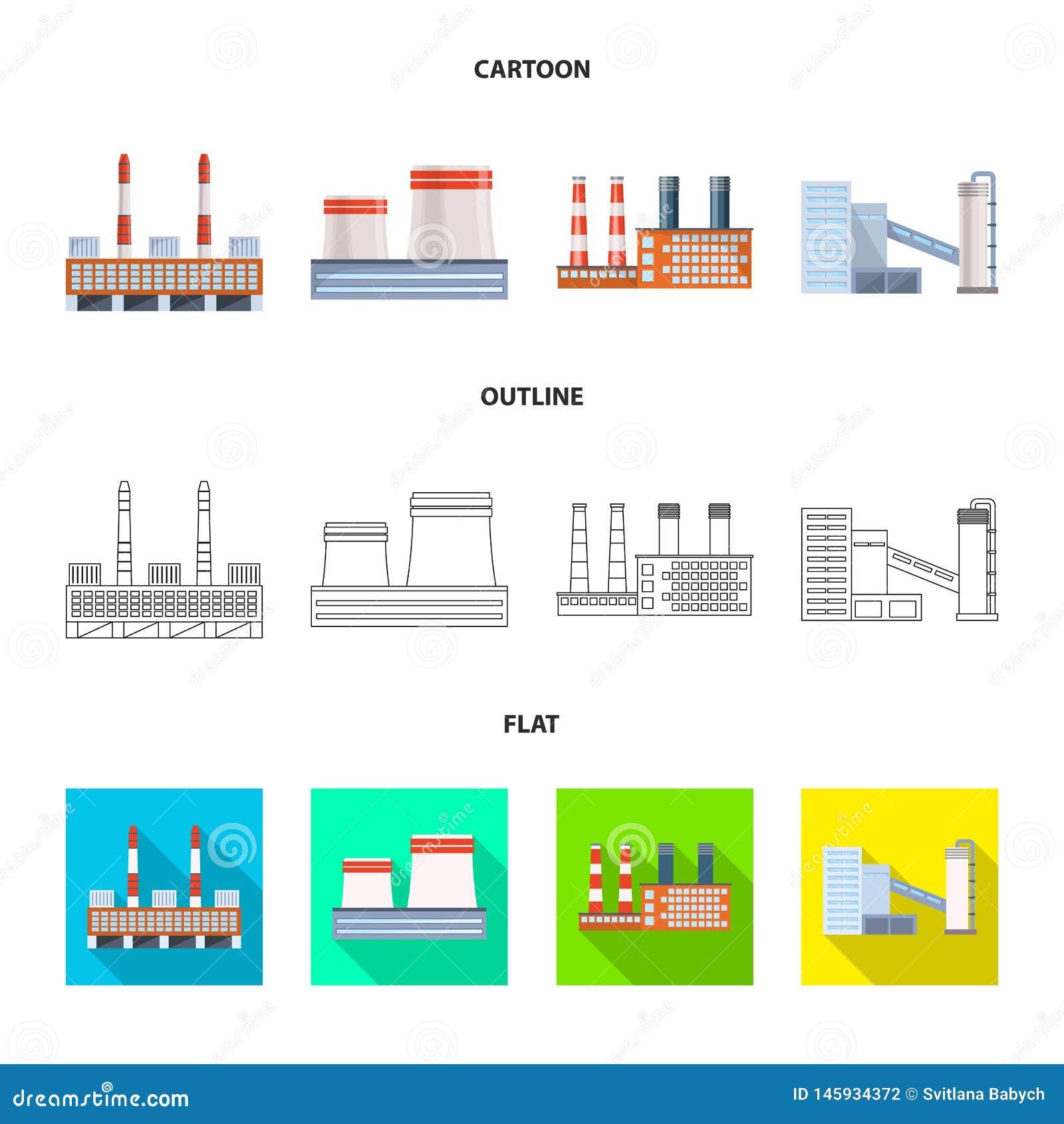 Ge?soleerd voorwerp van productie en structuurpictogram Inzameling van productie en technologie vectorpictogram voor voorraad