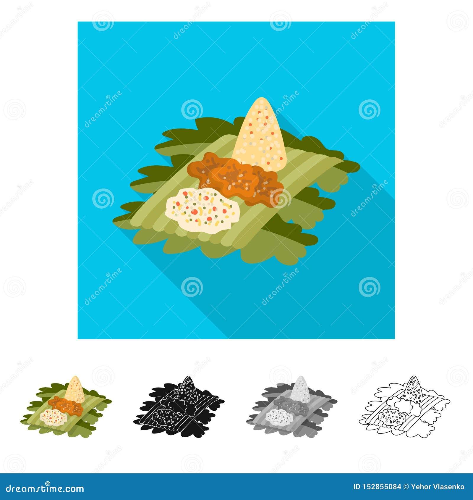 Ge?soleerd voorwerp van rijst en schotelembleem Inzameling van rijst en kerrie vectorpictogram voor voorraad