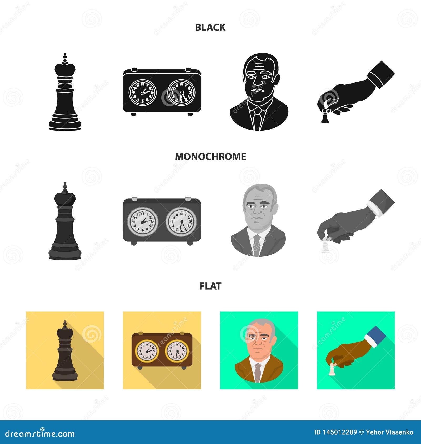 Ge?soleerd voorwerp van schaakmat en dun embleem r
