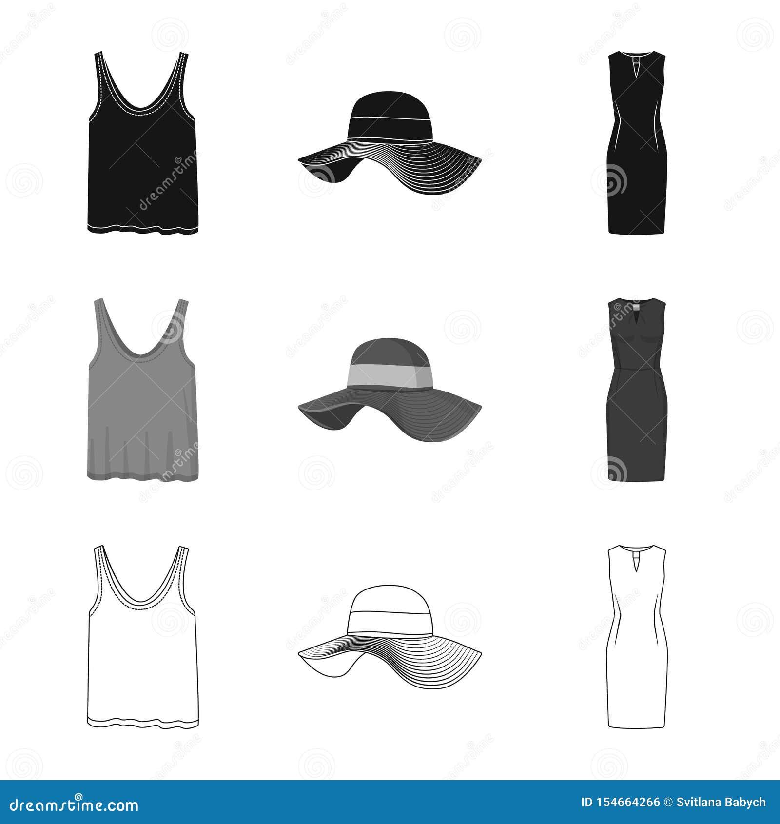 Ge?soleerd voorwerp van vrouw en kledingsembleem Reeks van vrouw en slijtage vectorpictogram voor voorraad
