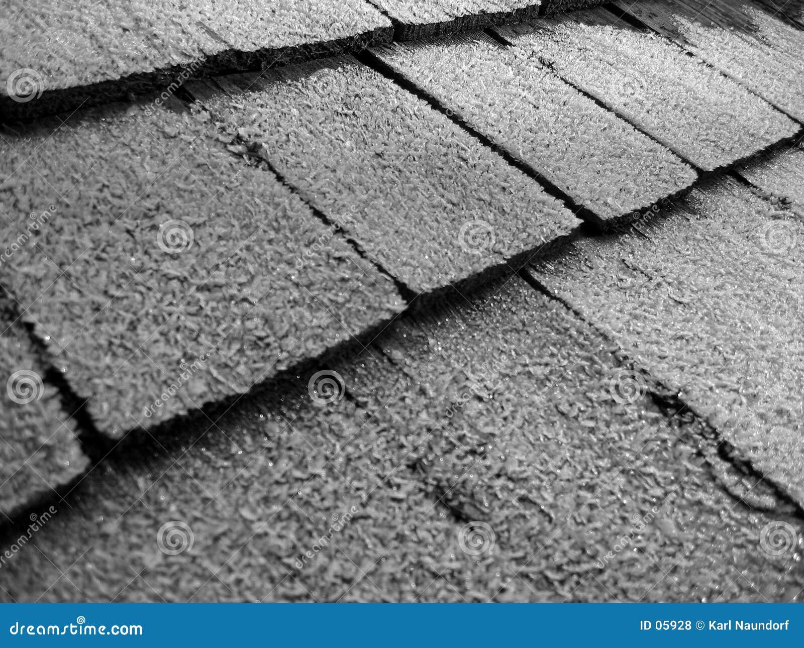 Geada em telhas