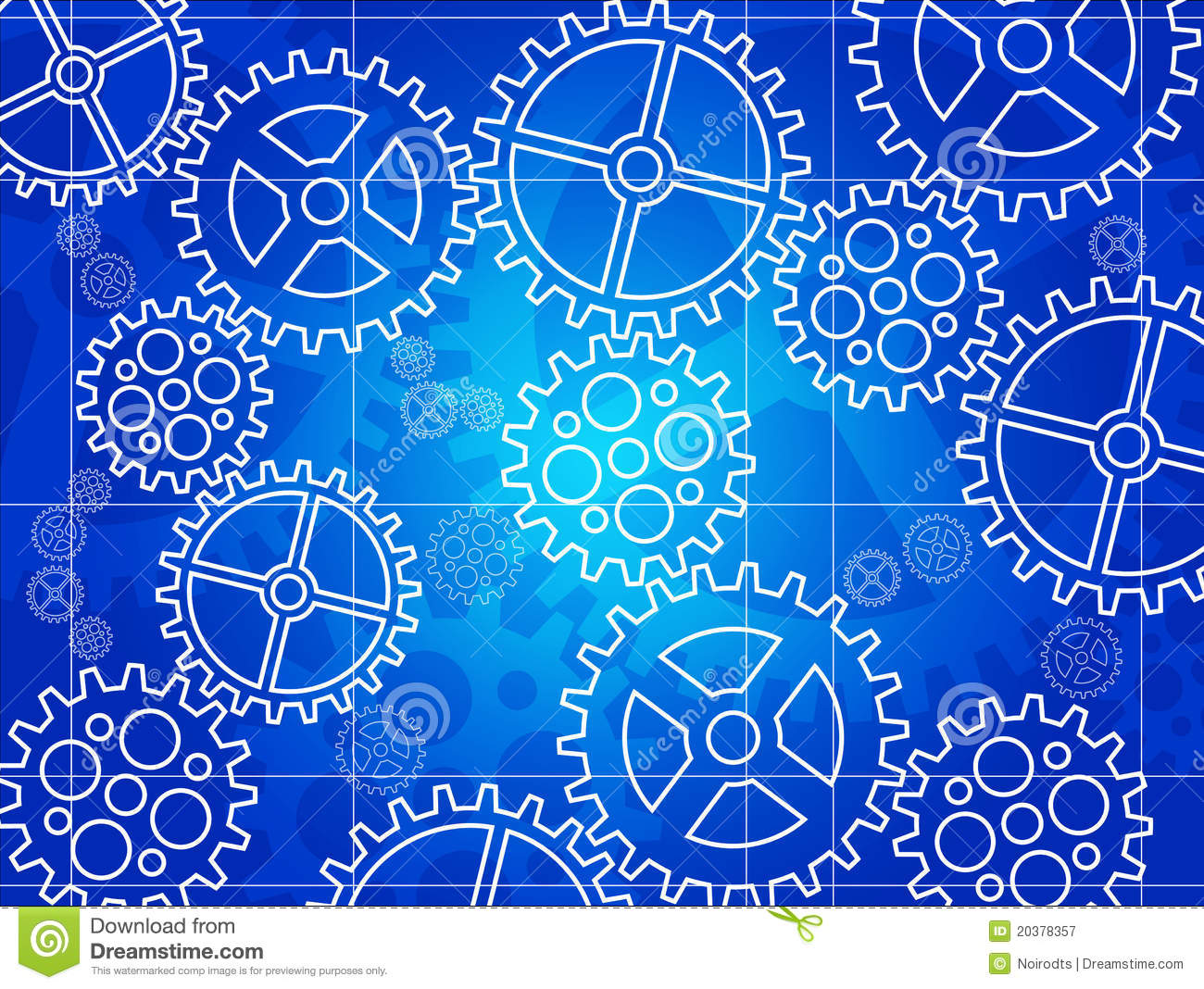 Gear Blueprint Royalty Free Stock Photography - Image ...