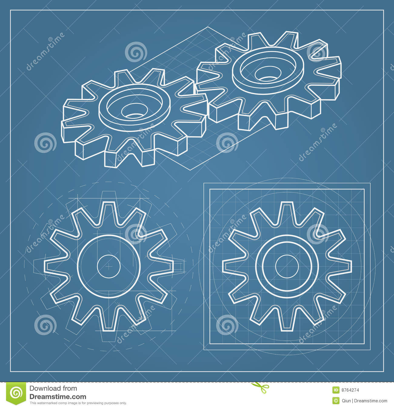 Gear on blueprint stock vector illustration of industrial 8764274 download gear on blueprint stock vector illustration of industrial 8764274 malvernweather Image collections