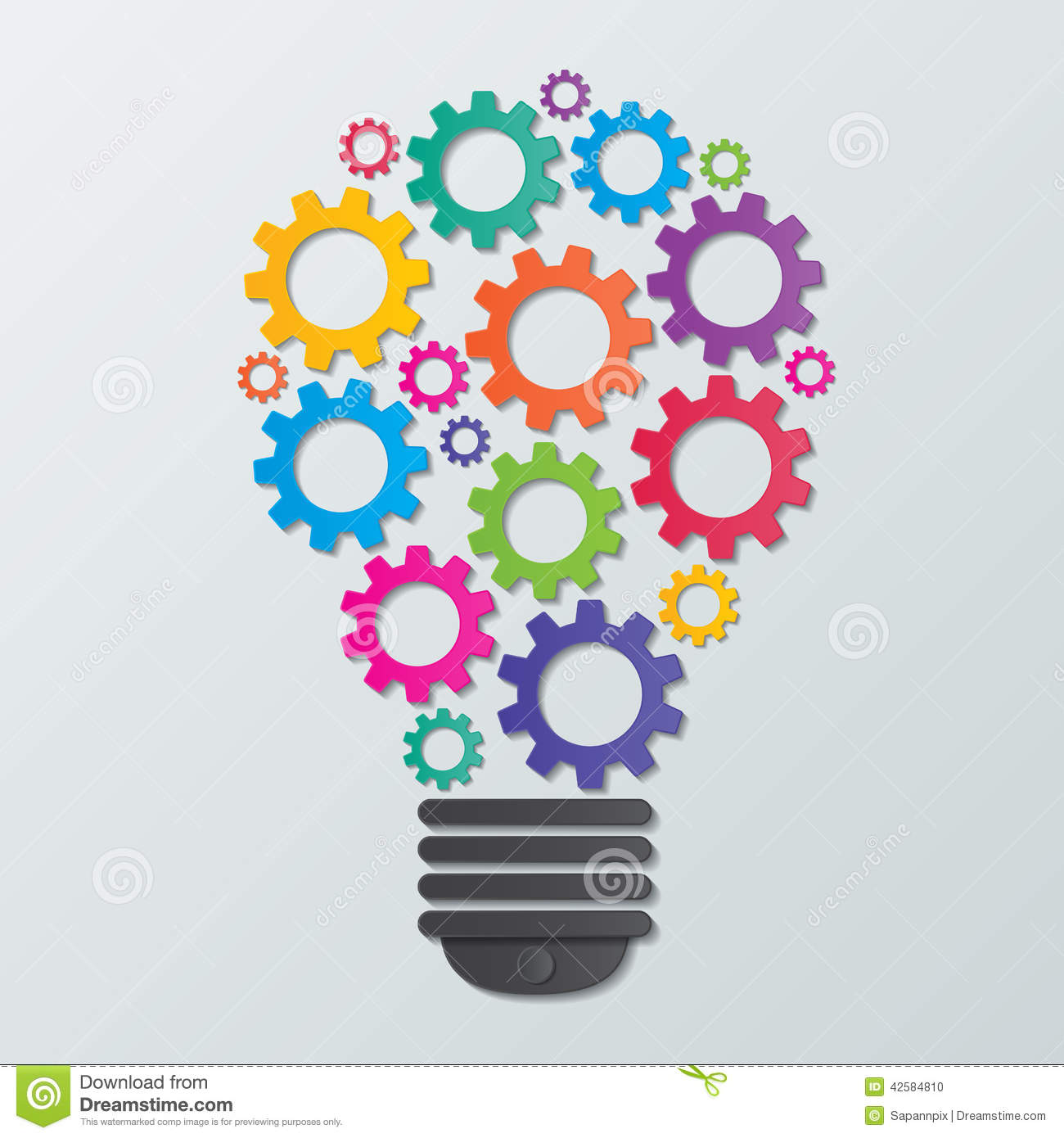 Gear Bulb Stock Vector Image 42584810