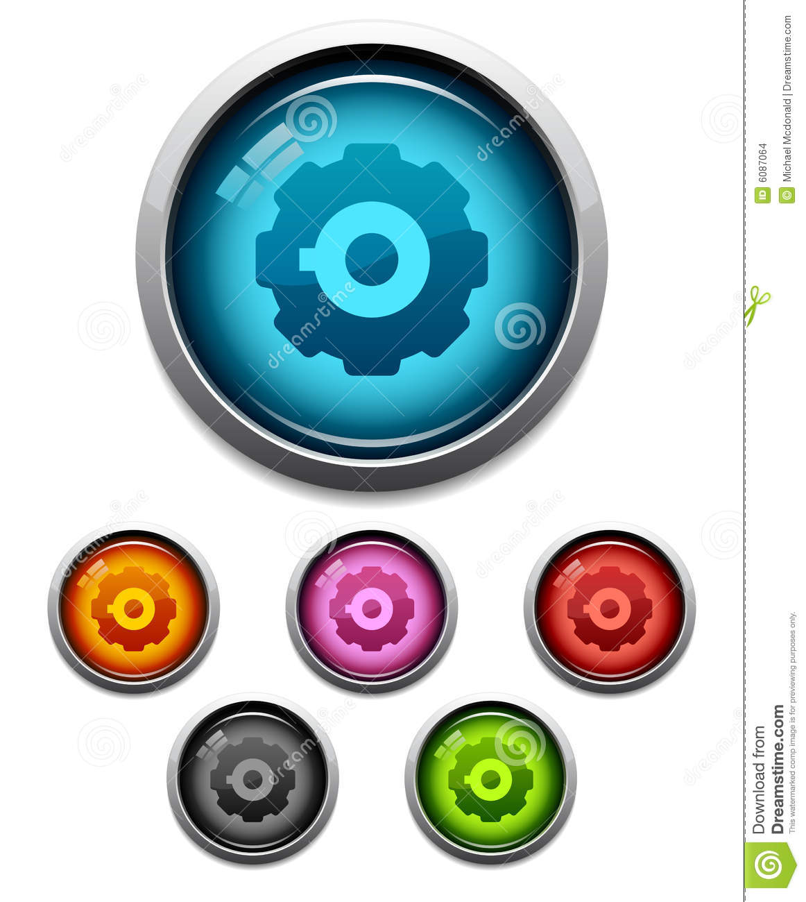 Gear button icon