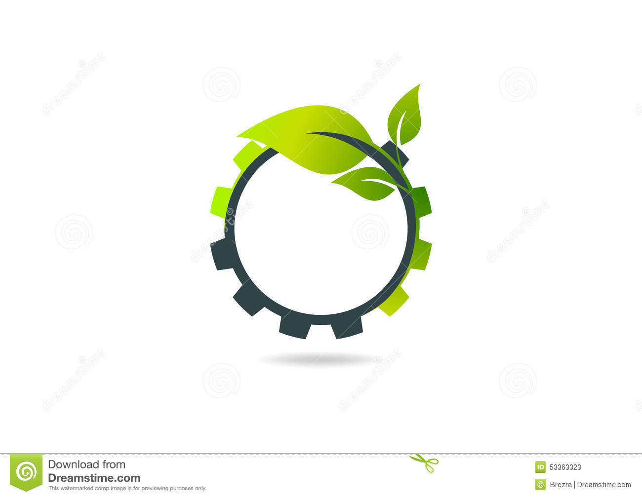 Gear Leaf, Plant Gear Vector Logo Design Stock Vector ... for Logo Design Samples Free Download  59jwn