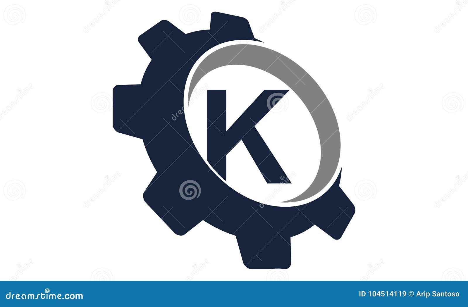 gear logo letter k