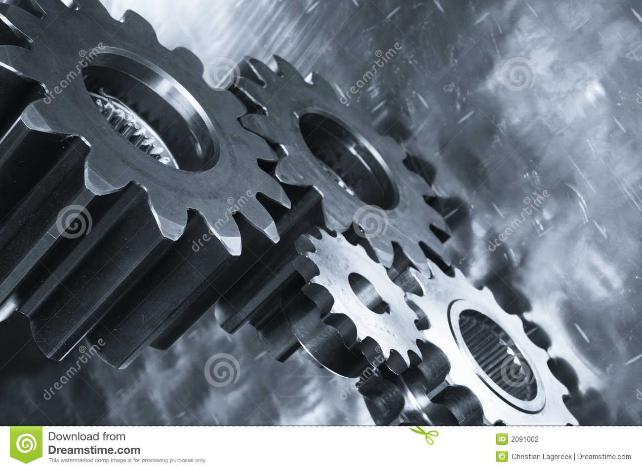 Gear-mechanics In Metallic Blue Toning Stock Photography ...