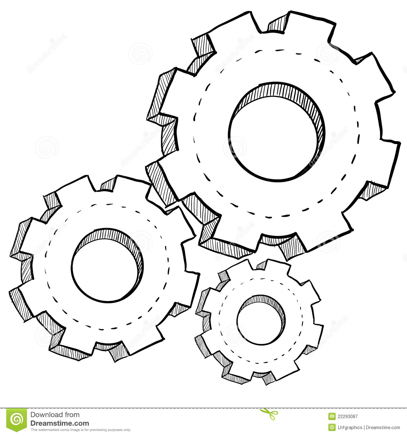 gear  mechanics  or settings illustration stock vector