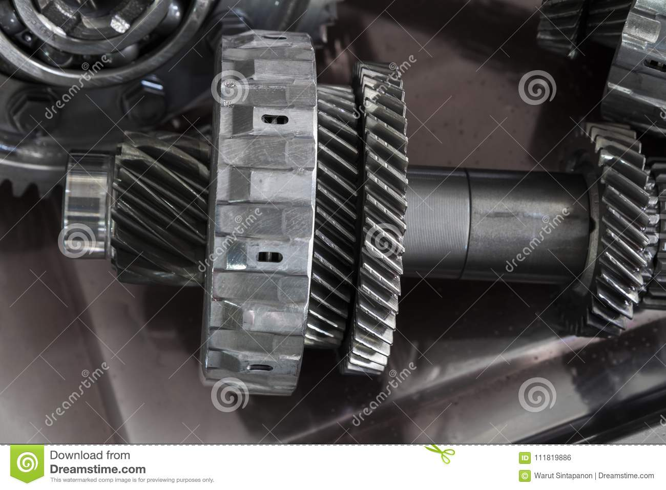 The Gear Parts From Car Transmission Stock Photo Image Of Drive