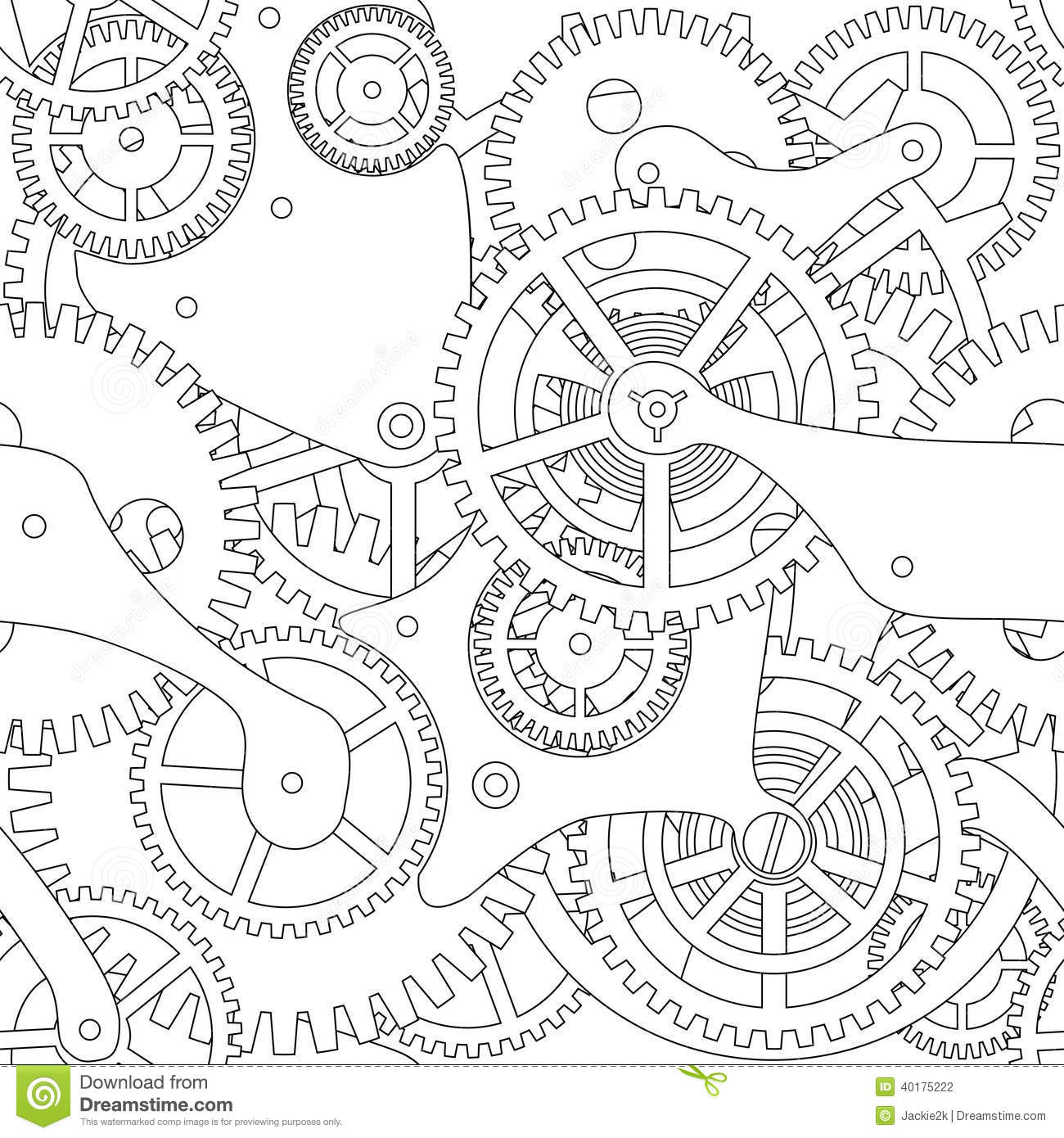 Gear Seamless Texture Stock Vector Image 40175222