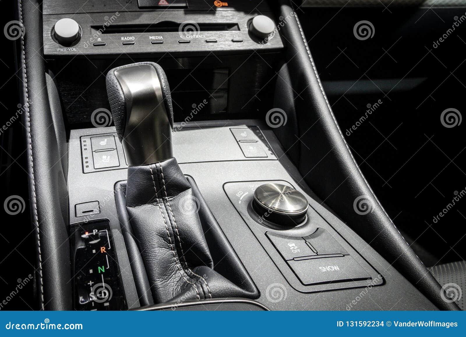 Gear shift modern car