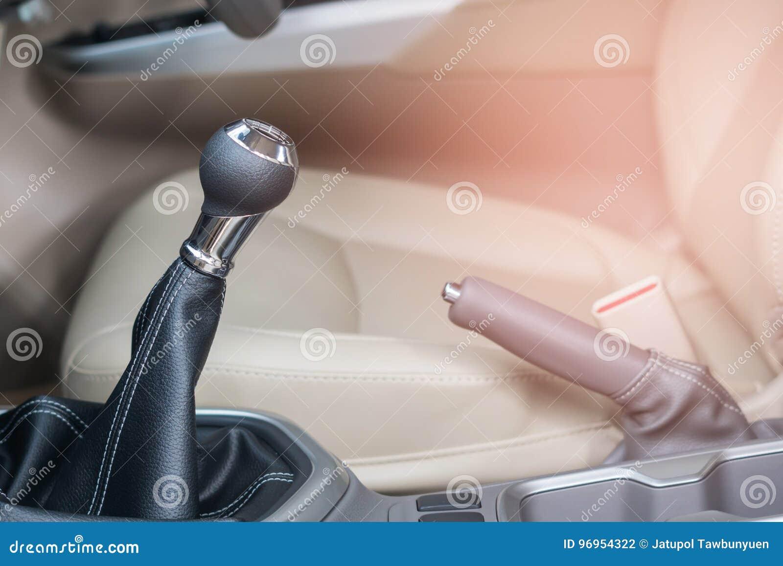 Gear shift in Modern car interior