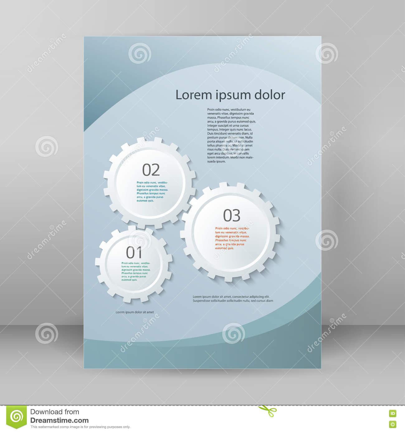 gear theme brochure cover page a stock vector image  gear theme brochure cover page a4