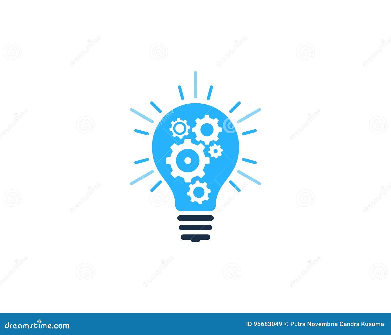 Gear Tool Idea Icon Logo Design Element Stock Vector