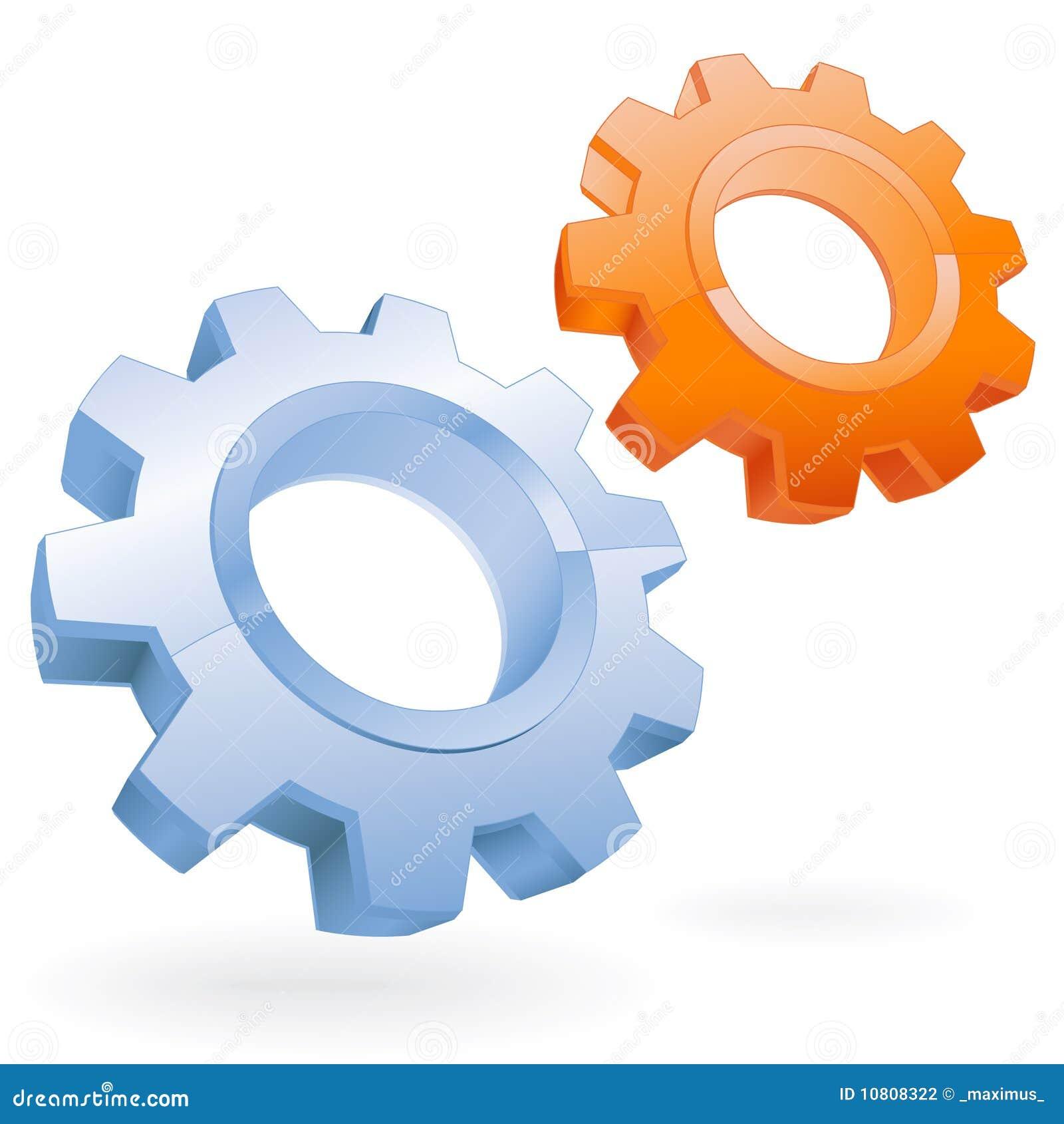 Gear vector icon stock vector. Illustration of internet ...