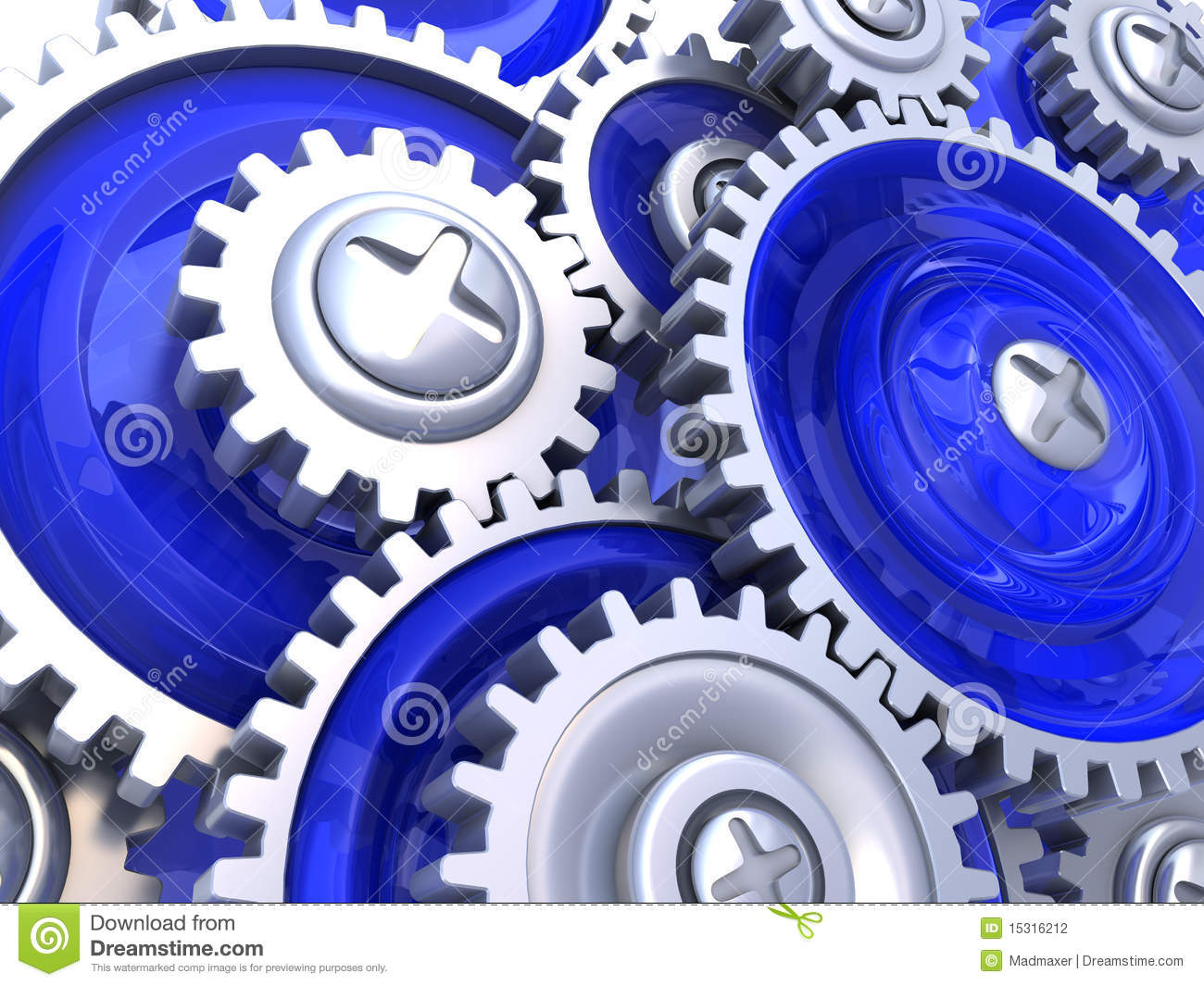 Gear Wheels Background Stock Photography - Image: 15316212