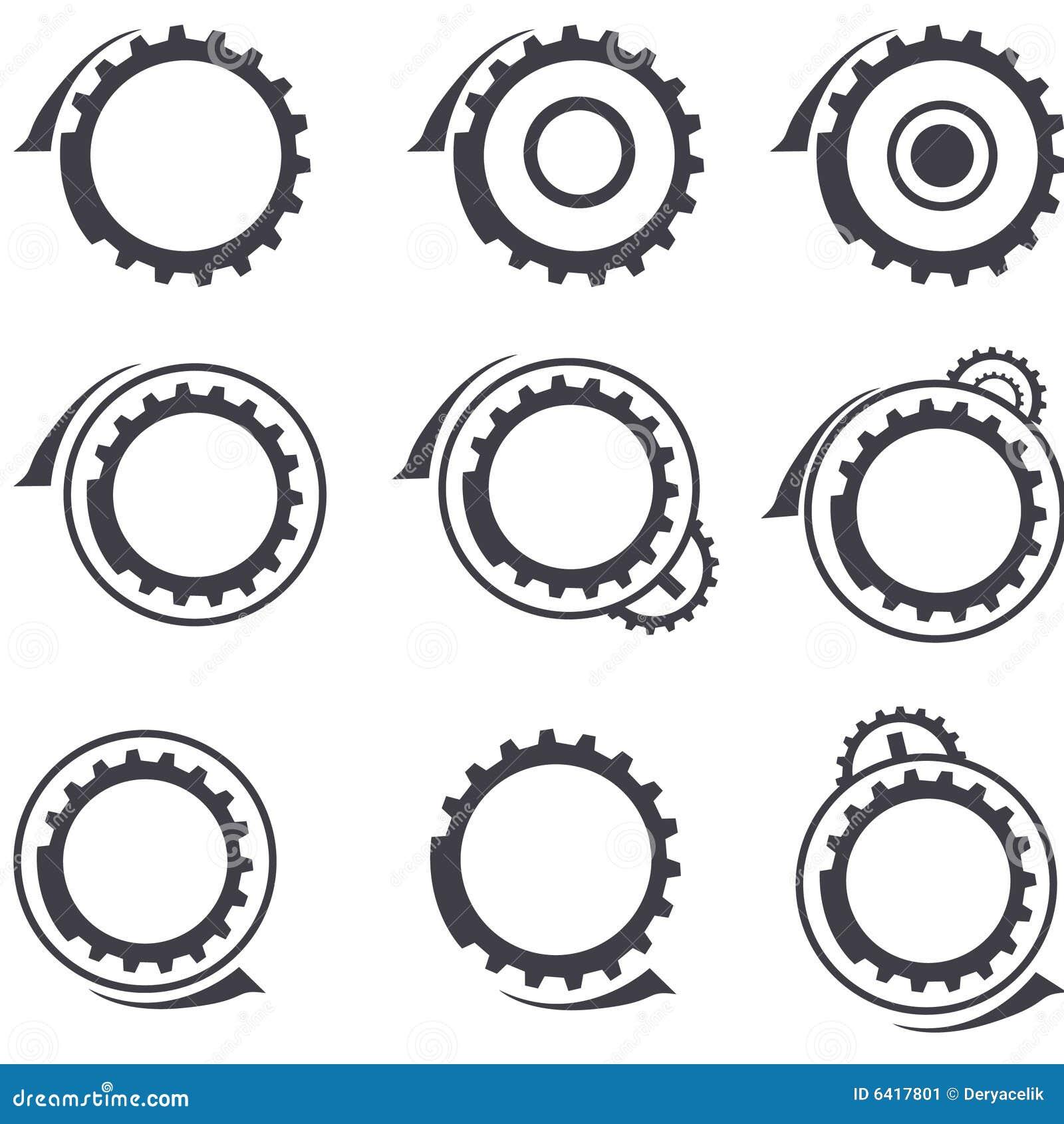 Vector graphic design business logo - Gear Wheels Vector Logos And Graphic Design Elemen