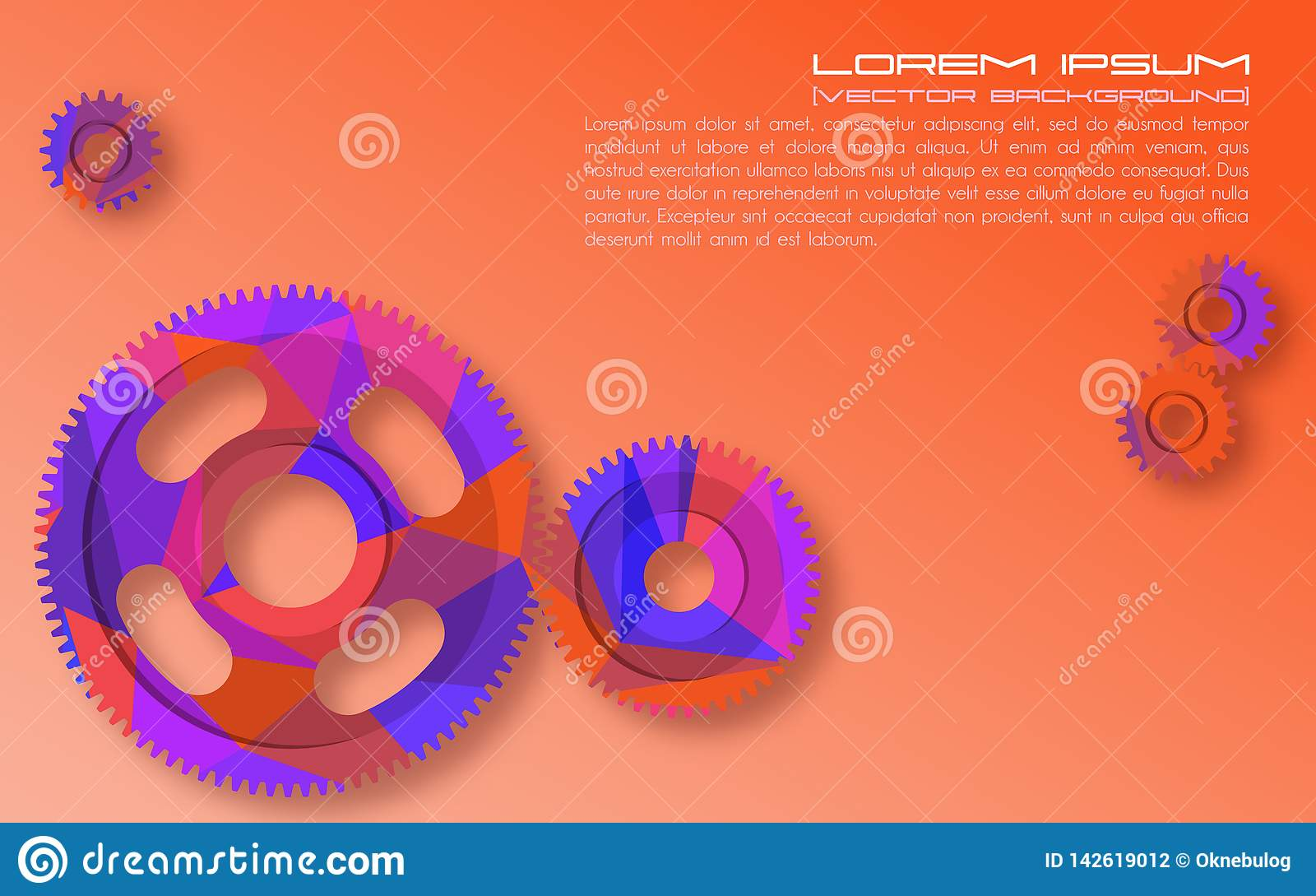 Gears  Abstract Background For Technical Webpage  Vector Illustration Stock Vector
