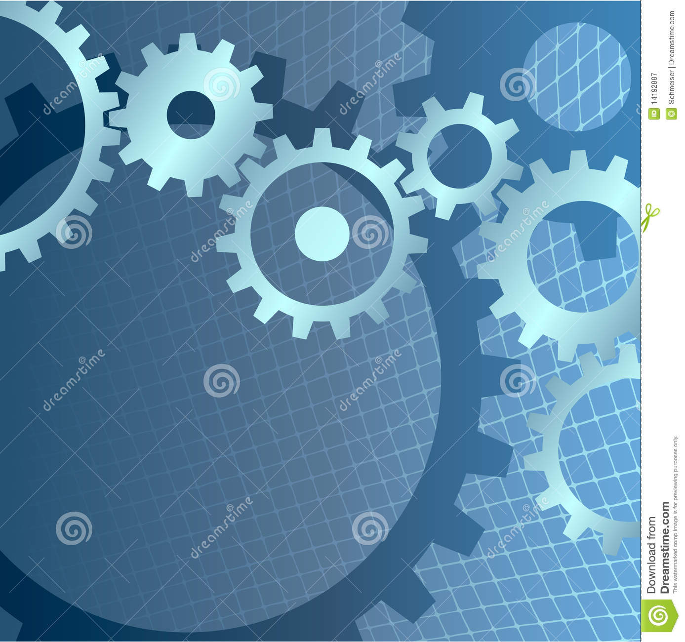 Diagram Gears Background With Technical Grid Royalty Free Stock