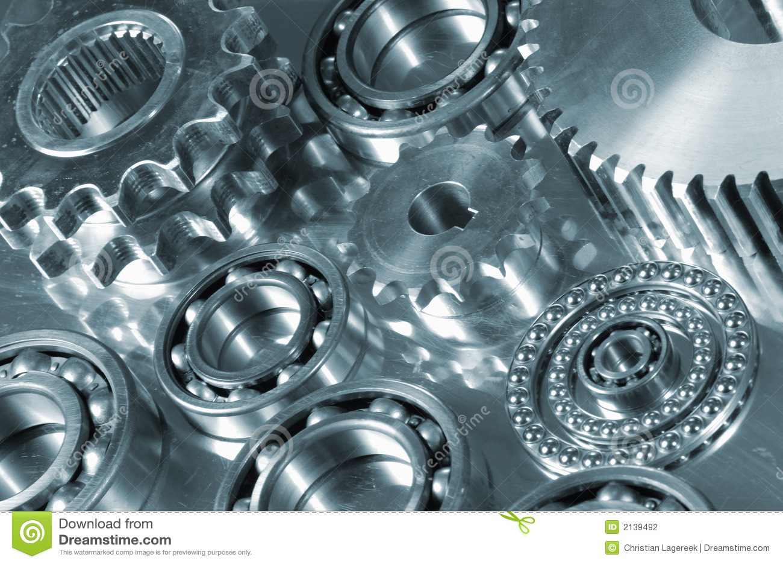 Gears and bearings on display