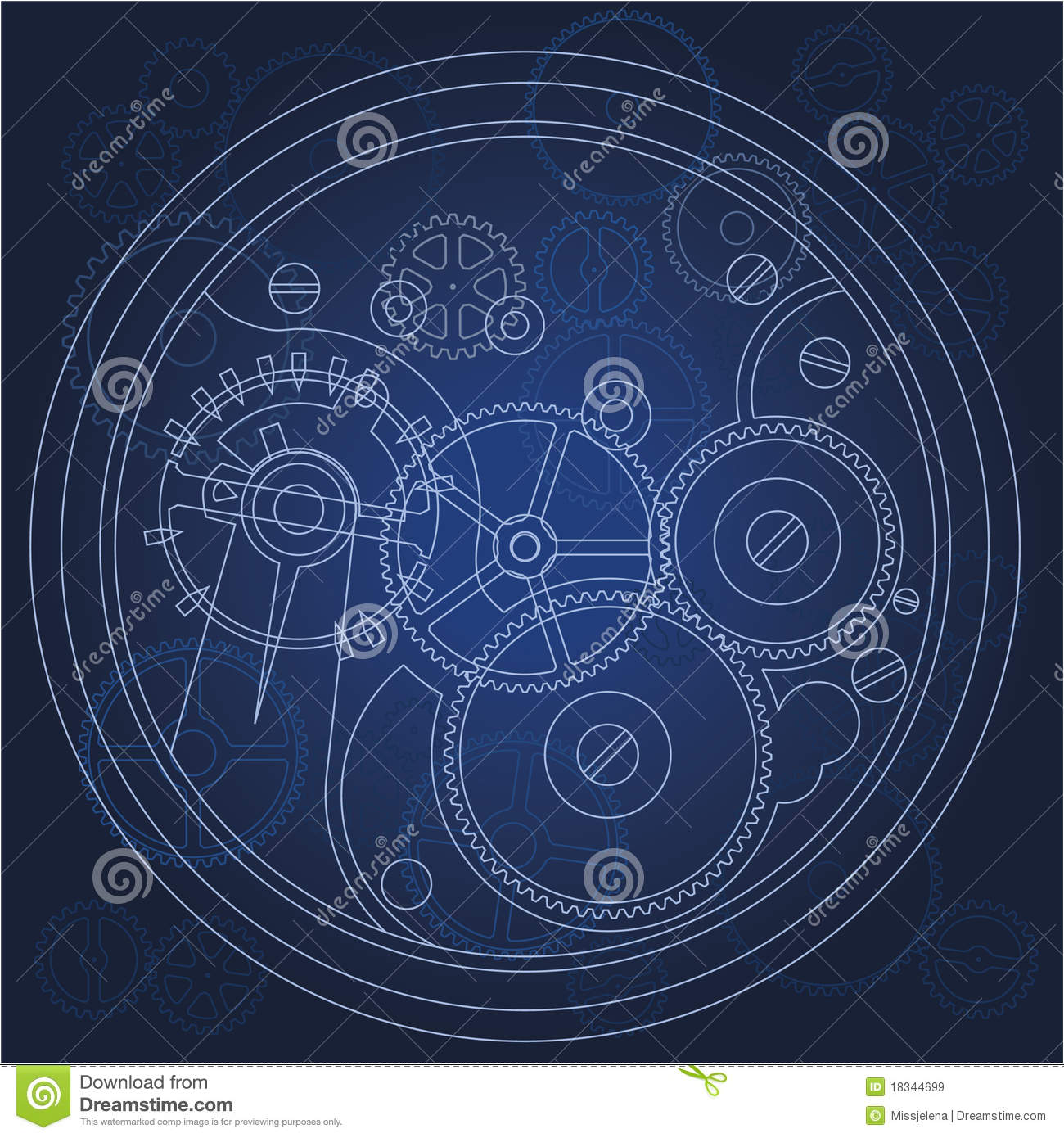 Bond In Motion >> Gears blueprint stock vector. Image of machinery, machine - 18344699