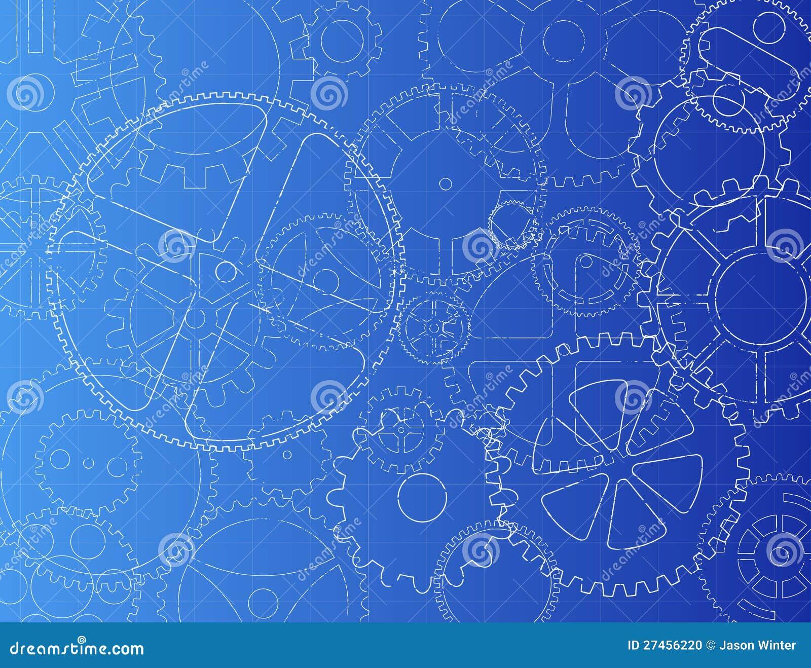Gears blueprint stock vector illustration of detailed 27456220 gears blueprint malvernweather Gallery