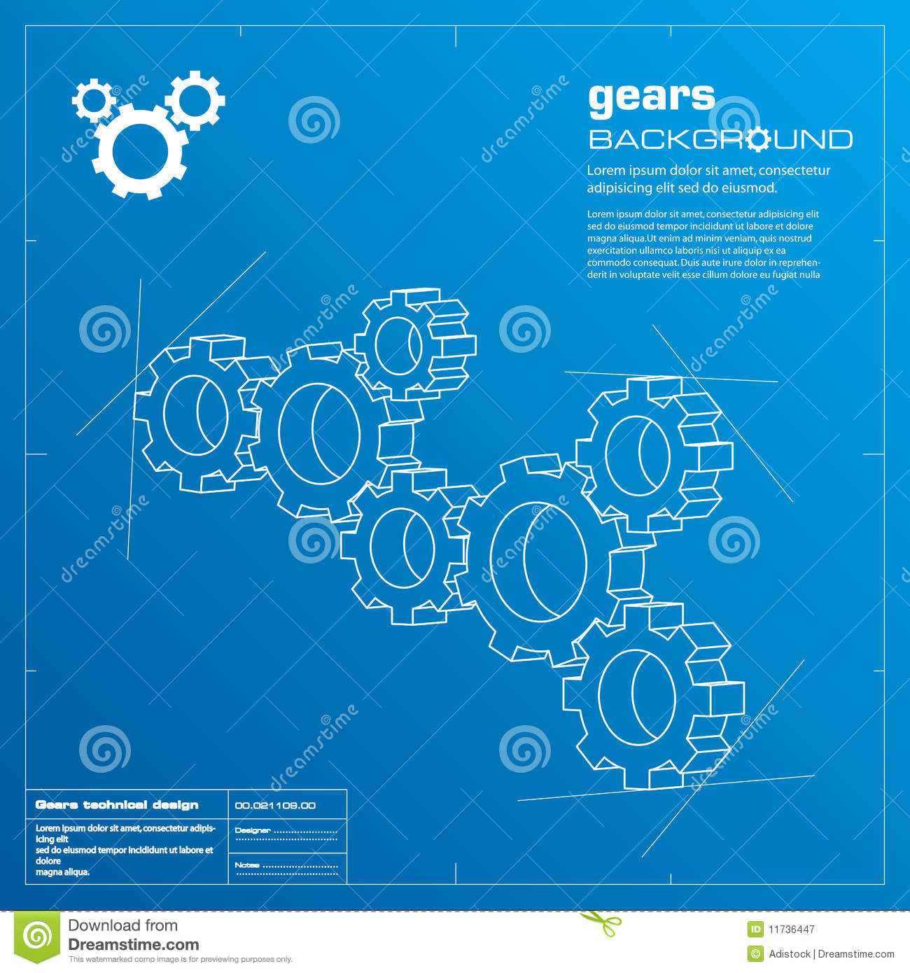 Gears blueprint background vector stock vector illustration of gears blueprint background vector stock vector illustration of blue backdrop 11736447 malvernweather Gallery