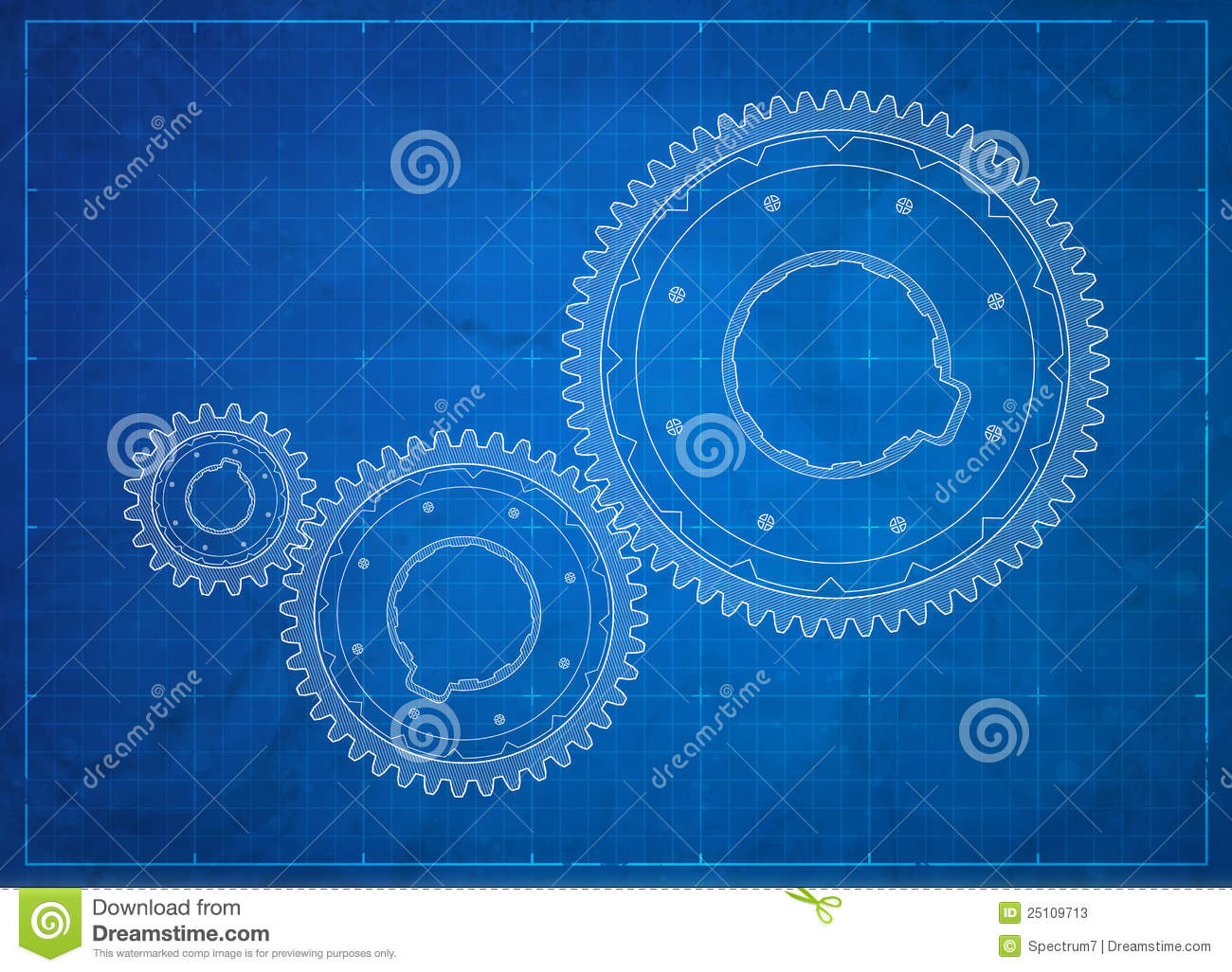 Gears blueprint business concept stock vector illustration of royalty free stock photo malvernweather Image collections