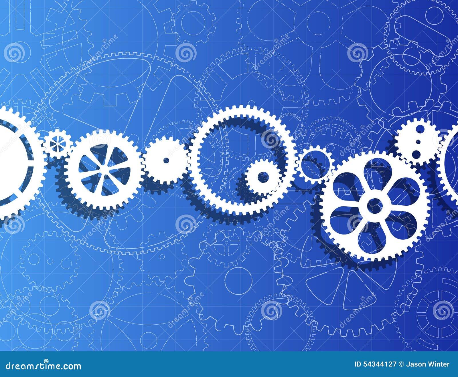 Gears and blueprint stock vector illustration of blueprint 54344127 gears and blueprint royalty free vector malvernweather Choice Image