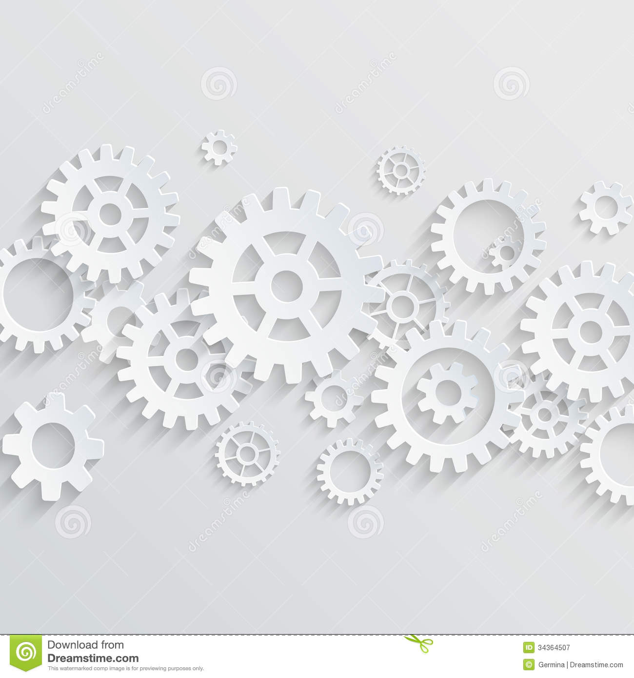 Gears/cogs Abstract Backgroud Royalty Free Stock ...