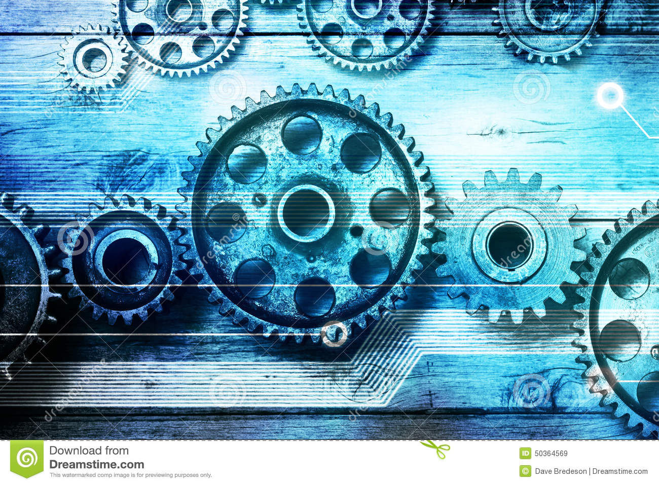 Gears Cogs Technology Background Stock Image