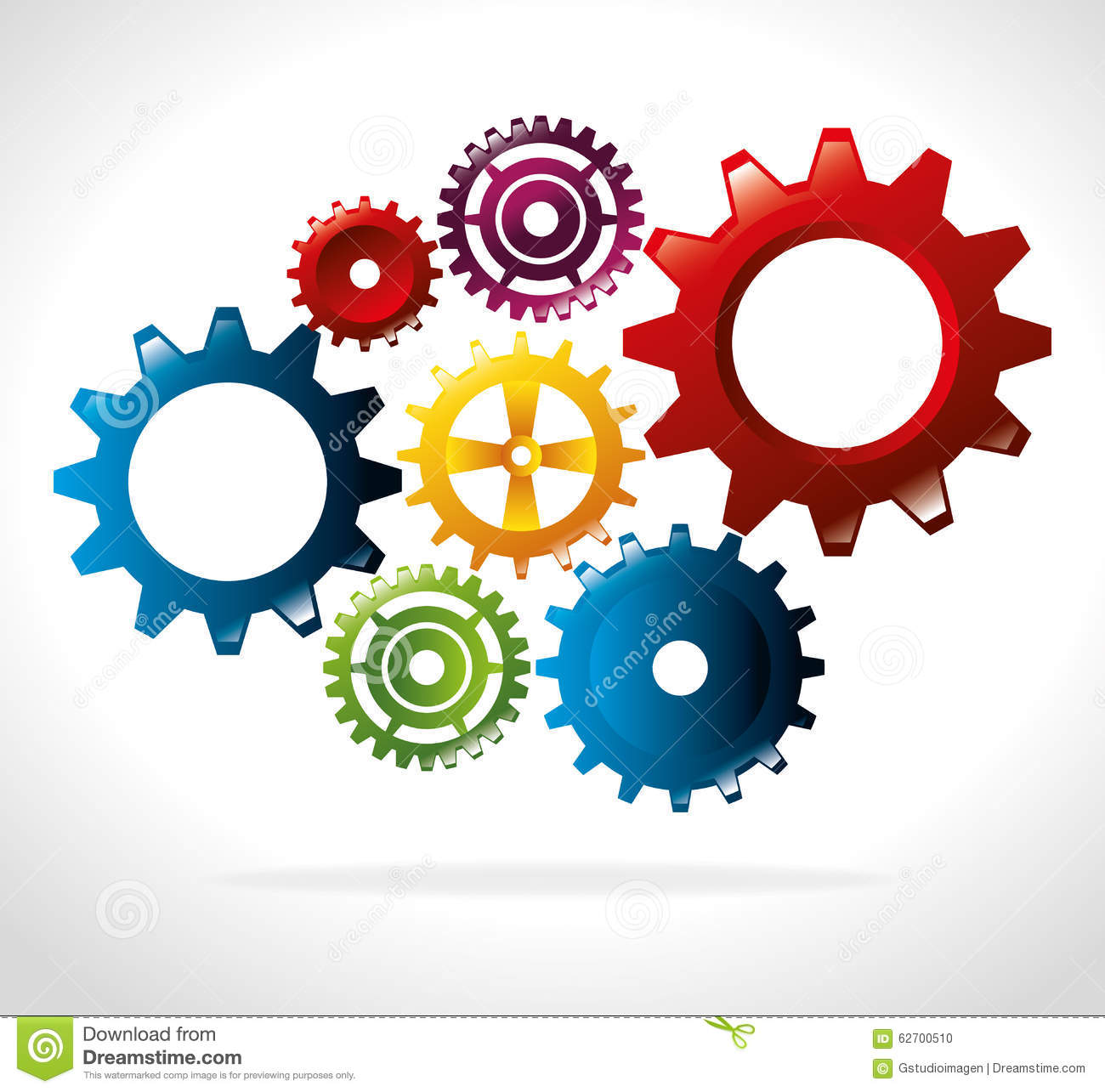 Gears, cogs or wheels stock vector. Illustration of ...