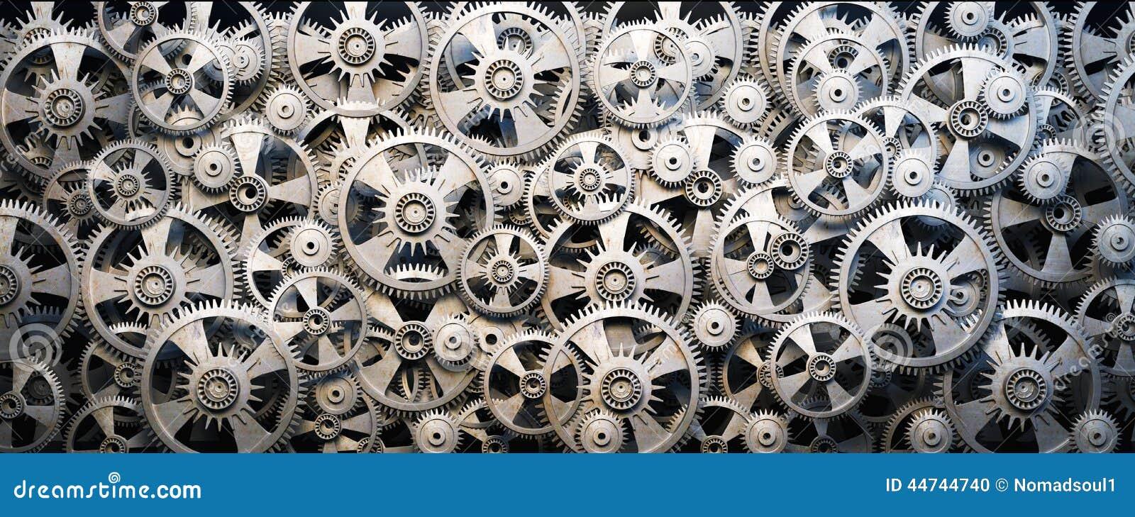 Gears And Cogwheels Stock Illustration - Image: 44744740
