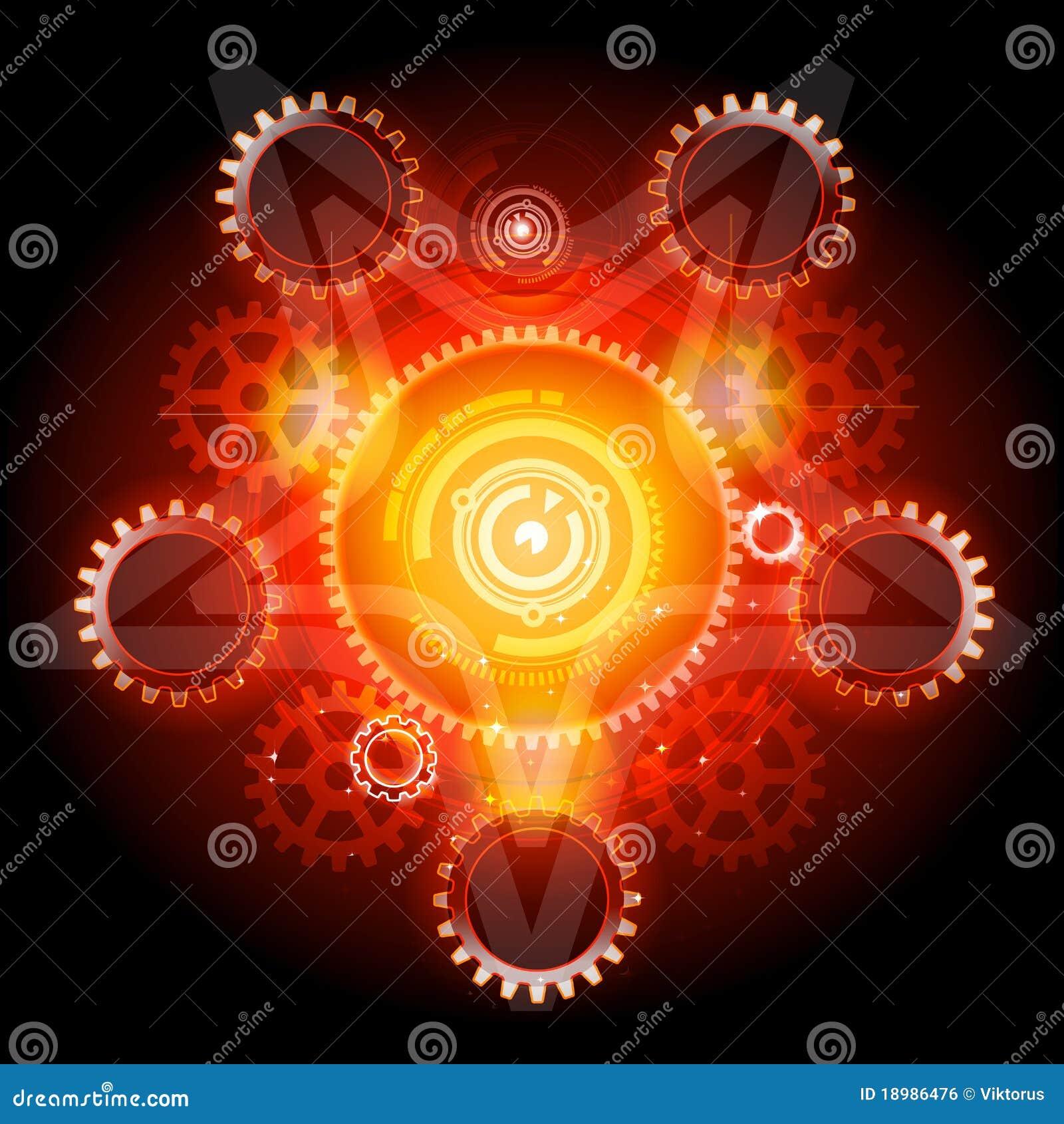 Gears glödande pentagramtechno