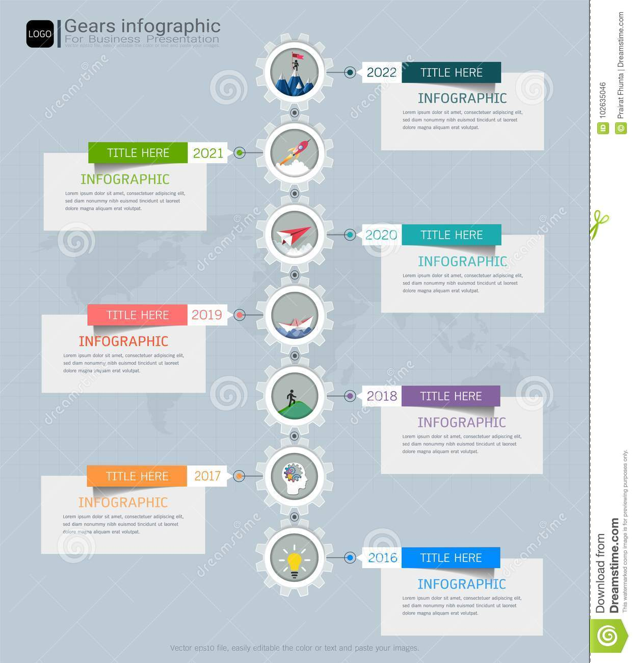 Gears infographic template for business presentation strategic plan gears infographic template for business presentation strategic plan to define company values cheaphphosting Images