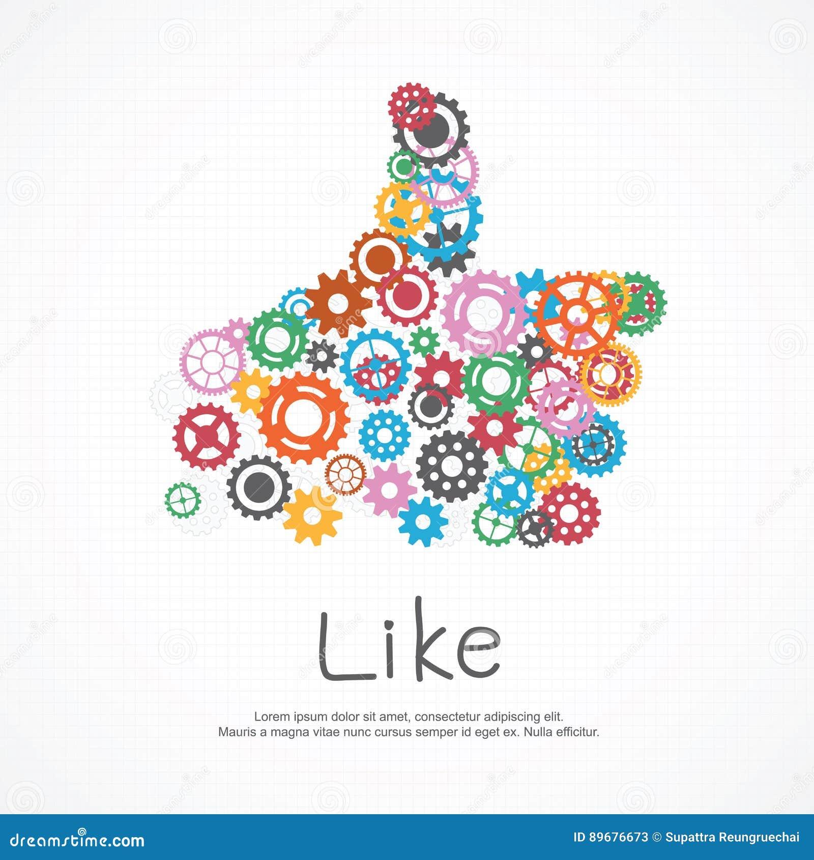 Gears Like Symbol For Social Media Stock Vector Illustration Of