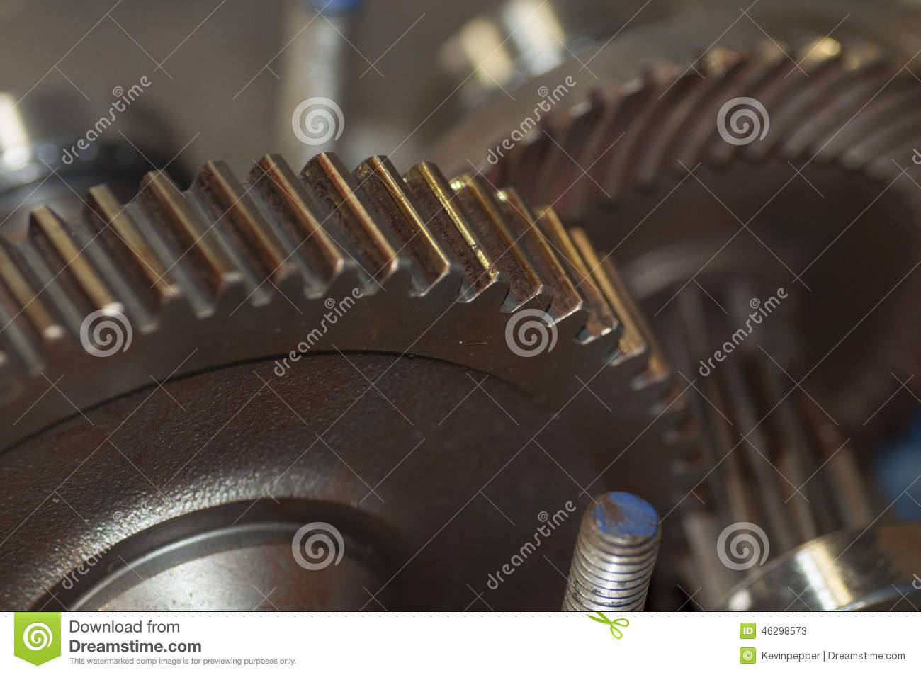 Gears Macro Motor And Cogs Stock Photo Image 46298573