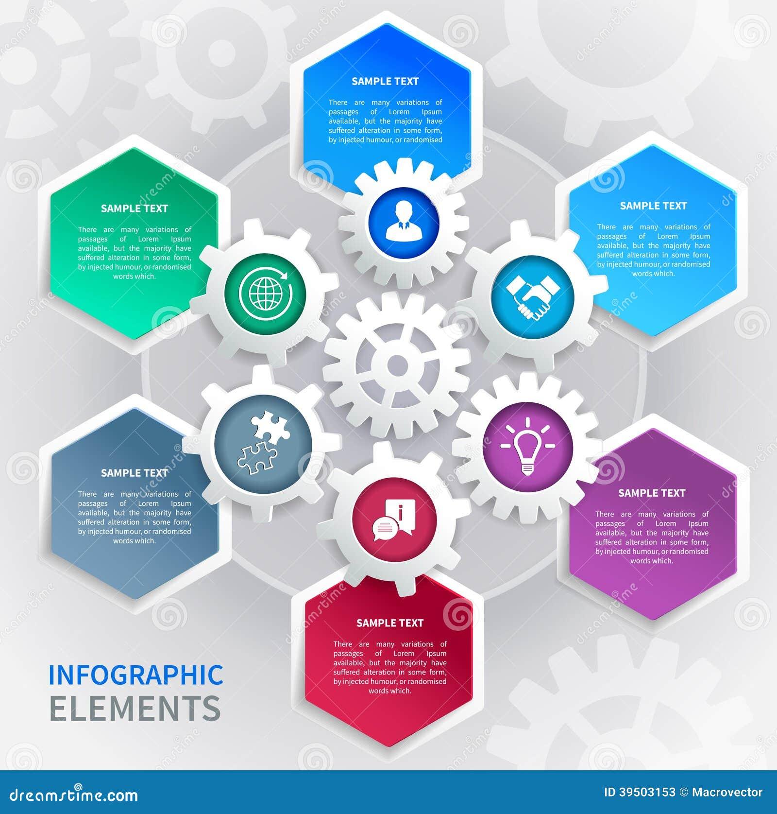 Gears paper infographics