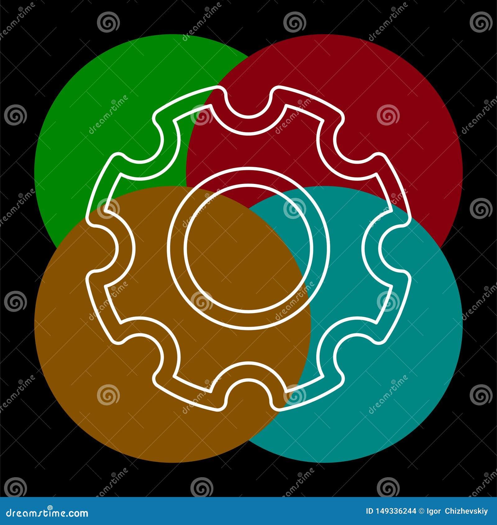 Gears settings icon - Cogwheel gear mechanism